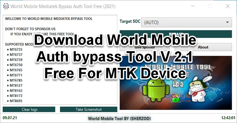 World Mobile Auth bypass Tool V 2.1